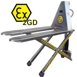 Transpaleta de tijera manual ATEX INOX