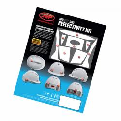 Adhesivos reflectantes para casco. Pack 10